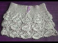 DIY Falda de volantes tejida a crochet - Patrones gratis