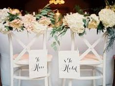 Image result for wedding chair decorations