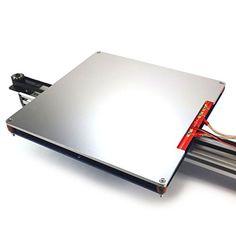 Aluminum Anodized Heated Build Plate Full kit for RepRap 3D Printer 3D CAM
