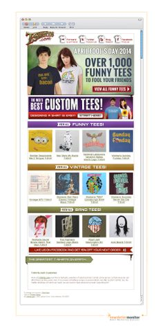 Brand: T-shirts.com   Subject: April Fools 2014: Tees to Tease