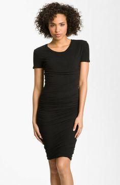 james-perse-black-ruched-tshirt-dress