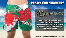 Black Optimum Unisex Senior Beachbums Swim Shorts Large