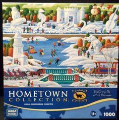 """$14.98 + Shipping~Jigsaw Puzzle Heronim 1000 piece """"Wisconsin Snow Sculpture"""" ages 12+ by Mega Puzzles-this is NEW IN BOX ~~view over 20 categories of merchandise in my store. I ship globally! www.shellyssweetfinds.com"""