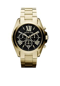 buy online b79d6 8eb51 Michael Kors Mid-Size Gold Tone Stainless Steel Bradshaw Chronograph Watch