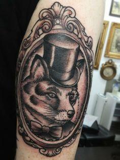 Rocky Tattoo, Western Tattoos, Mr Fox, Fox Tattoo, Future Tattoos, Body Art, Tattoo Ideas, Skull, Foxes
