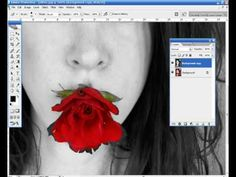 Photoshop - Detalhes coloridos em foto preto e branco