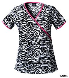 Baby Phat Phat Kingdom Cotton Mock Wrap Tunic Animal Instinct XX-Large - A slim fitting mock wrap tunic sports a new longer length and features two side inset pockets and a coin pocket. Contrast binding around the neckline, back tie and sleeve Baby Phat Scrubs, Cute Scrubs, Work Uniforms, Nursing Uniforms, Nursing Career, Medical Scrubs, Nursing Scrubs, Nursing Clothes, Scrubs Uniform