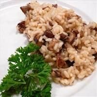 ... risotto with peas wild mushrooms and a sundried wild mushroom risotto