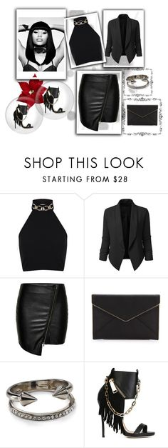 """""""Untitled #48"""" by seminedemir ❤ liked on Polyvore featuring Komar, Nicki Minaj, Miss Selfridge, LE3NO, ONLY, Rebecca Minkoff, Vita Fede and Dsquared2"""