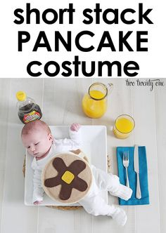 DIY short stack pancake halloween costume! Less than $10 to make!