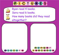 First Grade Word Problems Using Pictures, Tally Marks, and Tables