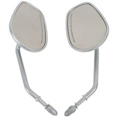 47.49$  Watch now - http://alik2w.worldwells.pw/go.php?t=32360224576 - Silver Rear View Side Mirrors For Harley Dyna Road King Touring XL 883 Sportster 47.49$
