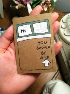 Mini Hand Drawn Card You Should Be Here por HandmadeDarling