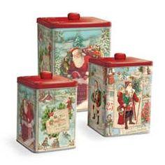 Vintage Santa Nesting Treat Canisters @ Fancy Flours