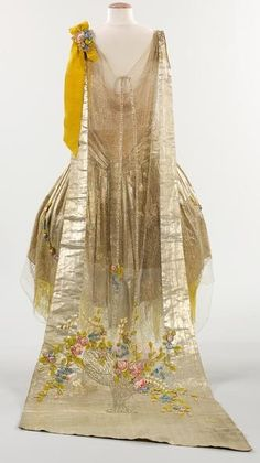 Floral patterned lace. Embroidery was done in Venice on sheer organdie, to make entire lingerie dresses.