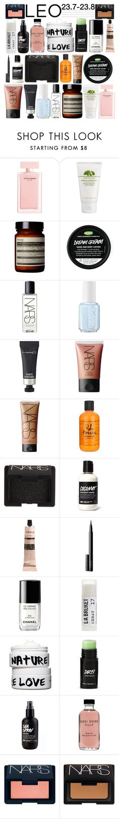 """""""LEO // CNTST"""" by stylesgotstyle ❤ liked on Polyvore featuring beauty, Narciso Rodriguez, Origins, Aesop, NARS Cosmetics, Essie, MAC Cosmetics, Bumble and bumble, Chanel and Toast"""