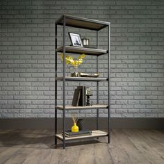 North Avenue Four Shelf Bookcase - 57H - 8807679 | OfficeFurniture.com