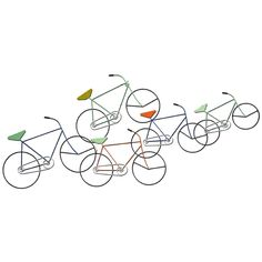 Carrick Design Metal Wall Art Bicycles 107 x 48 cm, Multicolour, x 2 x 49 cm Modern Metal Wall Art, Wall Hanging Crafts, Buy Metal, Sketch Painting, Welcome Decor, Simple Elegance, Wall Sculptures, Metal Walls, Soft Colors