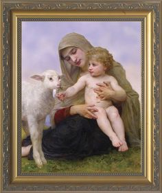 Virgin and the Lamb by William Adolphe Bouguereau