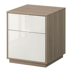 "NYVOLL Chest with 2 drawers - light gray/white - IKEA, $99.99 [17.75"" square x 20.5"" H]"