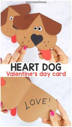 Heart dog Valentines day craft for kids. – Heart dog Valentines day craft for kids. Valentine's Day Crafts For Kids, Valentine Crafts For Kids, Dog Crafts, Craft Projects For Kids, Valentine Day Crafts, Toddler Crafts, Preschool Crafts, Valentines Crafts For Kindergarten, Kids Diy
