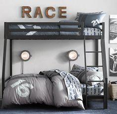 Boy bedroom. Restoration Hardware race stripe option...