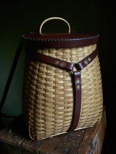 I love this black ash pack basket.