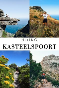Cape Town is known for Table Mountain and the Kasteelspoort trail is one of the many hiking trails leading you up Table Mountain. This trail is especially famous for the 'diving board' rock. Hiking Guide, Hiking Trails, South African Holidays, Diving Board, Table Mountain, Cape Town, Water, Travel, Outdoor