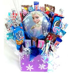 Delicious candy bouquets delivery online in USA. Send candy gift baskets and best candy edible arrangements for all occasions. Girl Gift Baskets, Candy Gift Baskets, Best Gift Baskets, Candy Gifts, Candy Bouquet Diy, Diy Bouquet, Halloween Candy Crafts, Batman Gifts, Creative Birthday Gifts