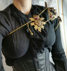 Alucard shoulder armor brass with dragons breath www.raveneve.com