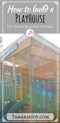 Build a simple playhouse for the kids following these simple steps.