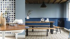 Dulux Colour Futures 17 - Colour of the Year - Dining - Denim Drift, Indigo Shade Denim Drift, Color Of The Year 2017, Mad About The House, Trending Paint Colors, Bleu Indigo, Wainscoting, Colorful Interiors, Blue Interiors, Color Trends