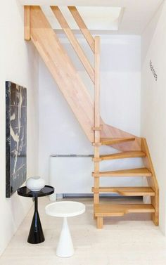 Awesome Attic remodel dallas,Attic bedroom layout ideas and Attic renovation new orleans. Small Staircase, Loft Staircase, Tiny House Stairs, Attic House, Attic Stairs, Staircase Design, Space Saver Staircase, Attic Floor, Staircases
