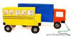 Como hacer un camion y un autobus con cajas