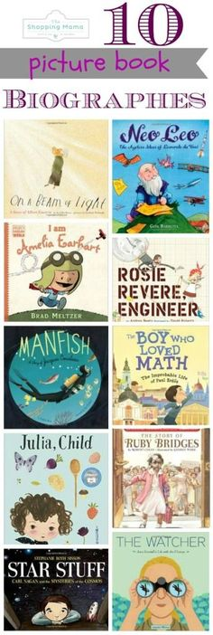 10 Picture Books Biographies that Inspire Kids | The Shopping Mama (scheduled via http://www.tailwindapp.com?utm_source=pinterest&utm_medium=twpin&utm_content=post849397&utm_campaign=scheduler_attribution)