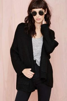 Dakota Cardigan - Black | Shop Clothes at Nasty Gal!