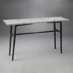 Tenon Table Series made with  3form Chroma and Pewter . Designed by L. Proctor Ironworks #design #tables #3form #chroma #pewter