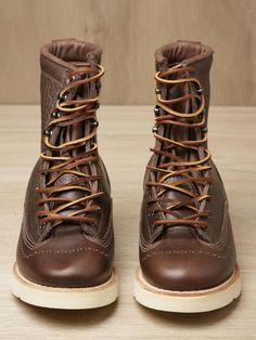 menswearmonday:    yowza!!nickelcobalt:Yuketen Men's Exclusive Bull Hide Smith Boots
