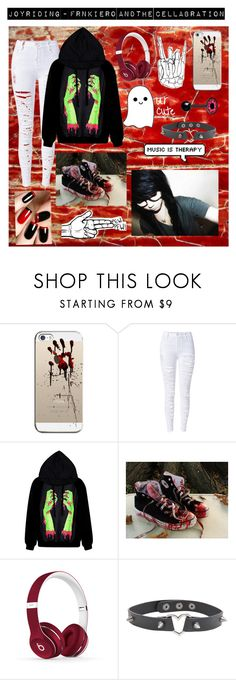 """Joyriding - Frnkiero andthe cellabration"" by mychemicalbandoms ❤ liked on Polyvore featuring Casetify, Converse, Beats by Dr. Dre and Hot Topic"