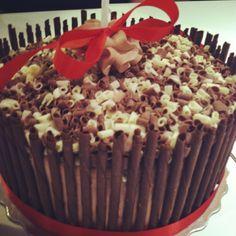 White and milk chocolate cake!
