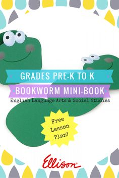 This Bookworm Mini-Book craft is perfect for Pre-K to Kindergarteners! Head over to the link to get the free lesson plan, or explore some of our other free lesson plans!