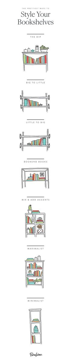 You're not alone: Arranging a bookshelf is always harder than it looks. But fear not. We've got you covered, whether you're a bookworm trying to find a place for your beloved hardcovers or a total minimalist thinking only about negative space.: