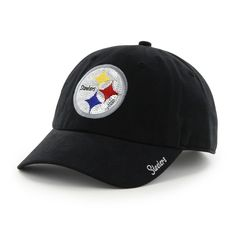 Pittsburgh Steelers Women s Sparkle Team Color Clean Up Adjustable Cap a2d167883