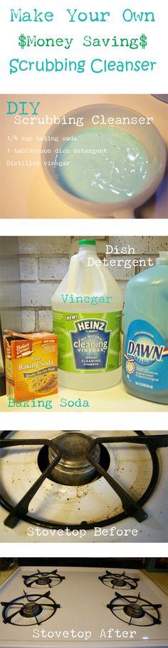 DIY Eco-Friendly and Money Saving Scrubbing Cleanser | Cupcakes & Crinoline - Part 1
