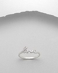 Sterling Silver 925 Love Word Ring