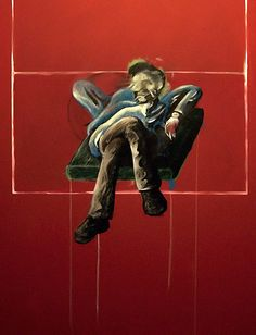 FRANCIS BACON - 'Unfinished Bacon / Dyer portrait - Stage 2', is what the foot of the photograph says, which also comes from the archive alexalienart.com, and does not add any more data.