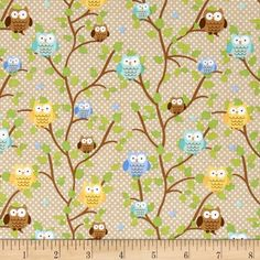 Riley Blake Snips & Snails Owls Brown from Designed by Doodlebug Designs for Riley Blake Designs, this cotton print is perfect for quilting, apparel and home decor accents. Colors include blue, green, yellow and brown. Yellow And Brown, Blue Green, Nursery Curtains, Riley Blake, Woodland Nursery, Red Apple, Discount Designer, Accent Decor, Fabric Design