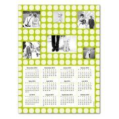 Magnetkalender, Seventies Muster, grün, Planet Photo