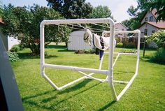 Pvc+Garden+Projects | Stand Alone PVC Clothesline - Project - Simplified Building