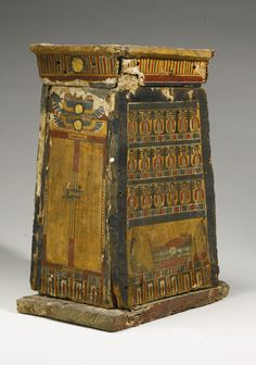 An Egyptian Polychrome Wood Canopic Chest, Ptolemaic Period, 305-30 B.C.